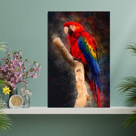 Quadro Decorativo - Arara Vermelha - 110x70cm