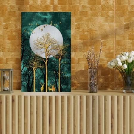 Quadro Decorativo - Arvores e Corsas ao Luar - 90x55