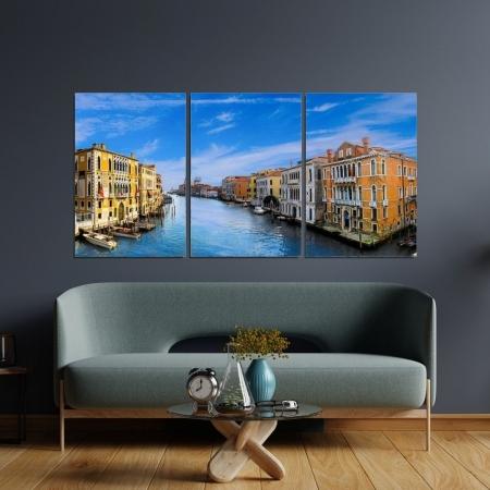 Quadro Decorativo - Canal de Veneza - 120x60cm.