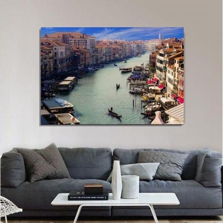 Quadro Decorativo - Canal de Veneza - 110x70cm