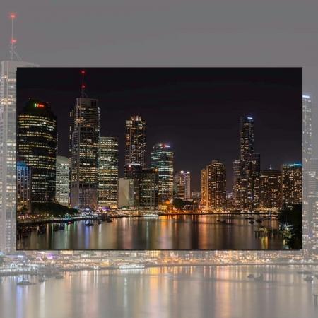 Quadro Decorativo - Cidade a Noite - 110x70cm