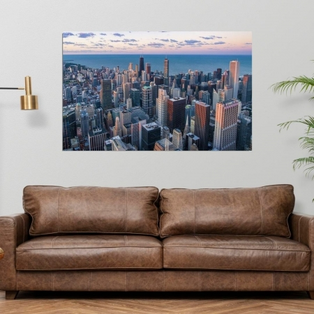 Quadro Decorativo - Cidade de Chicago - 110x70cm