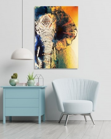 Quadro Decorativo - Elefante - 100x60