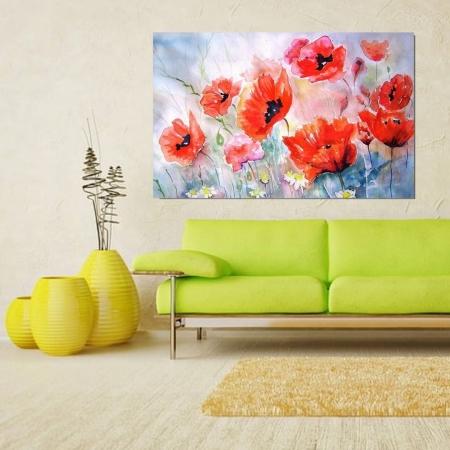 Quadro Decorativo - Flores Estilo Pintura - 110x70cm