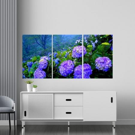 Quadro Decorativo - Hortênsias - 120x60cm