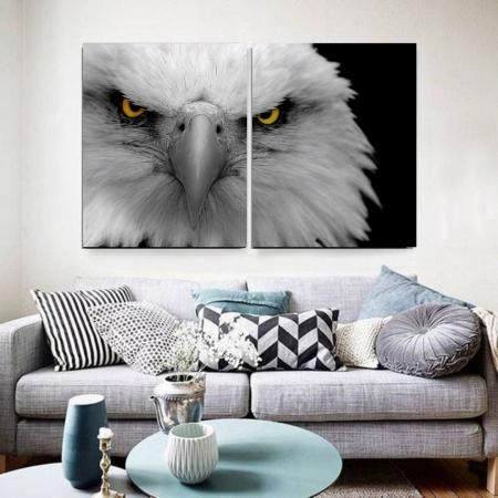 Quadro Decorativo - Olhar da Águia - 2 Telas - 120x80cm