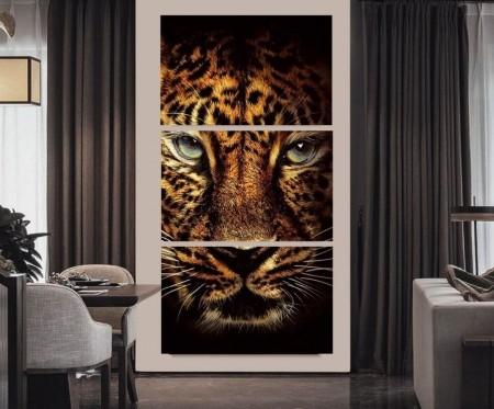 Quadro Decorativo Olhar Felino 200x100