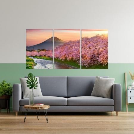 Quadro Decorativo - Paisagem Cerejeiras em Iwakuni Japão - 120x60cm