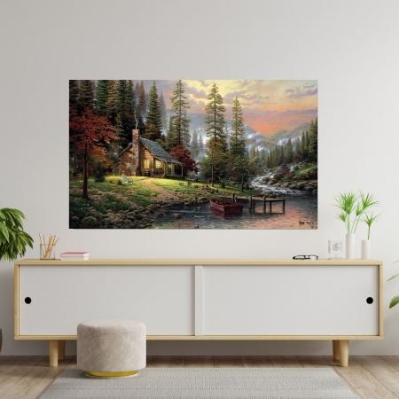 Quadro Decorativo - Pintura - Paisagem Maravilhosa - 100x70cm