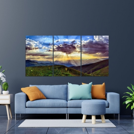 Quadro Decorativo Para Sala - Por do Sol - 120x60