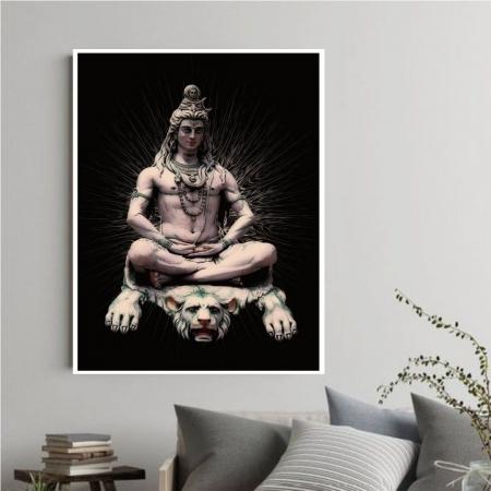 Quadro Decorativo Shiva com Moldura 90x50 cm