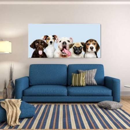 Quadro Decorativo - Turminha Pet - 130x50cm