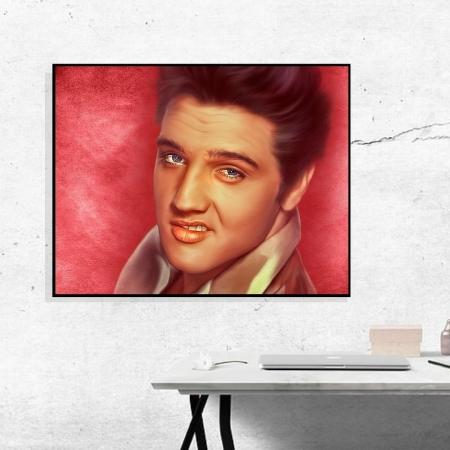 Quadro Elvis Presley com Moldura 90x70cm