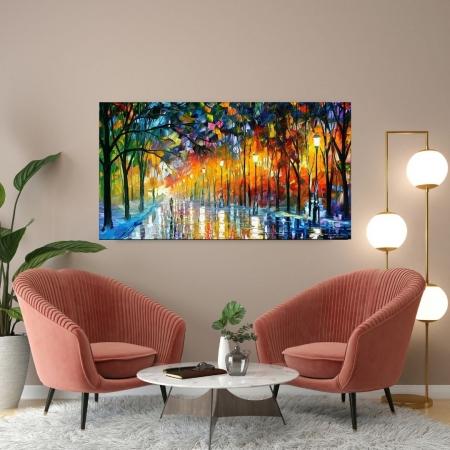 Quadro Para Sala - Abstrato Espatulado - 110x60cm.