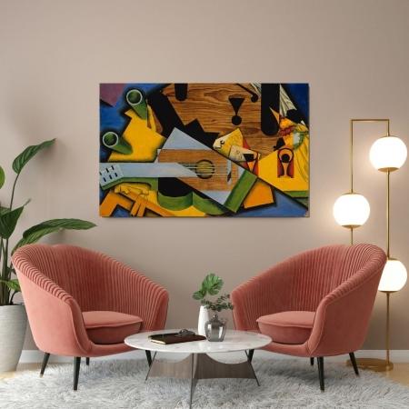 Quadro Para Sala - Abstrato Musical - 110x70cm