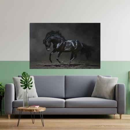 Quadro para Sala - Cavalo na Escuridão - 100x65cm