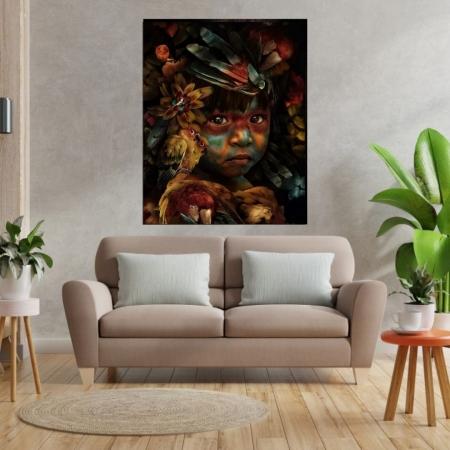 Quadro Decorativo Para Sala - Pequena Índia - 110x80cm