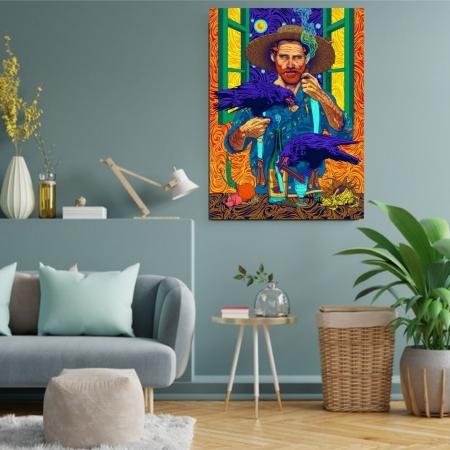 Quadro Decorativo - Van Gogh - Arte Moderna - 80x50cm