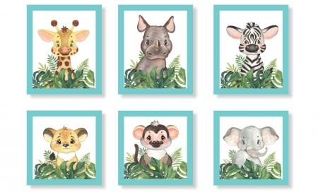 Quadros Decorativos Para Quarto Infantil Animais Safari