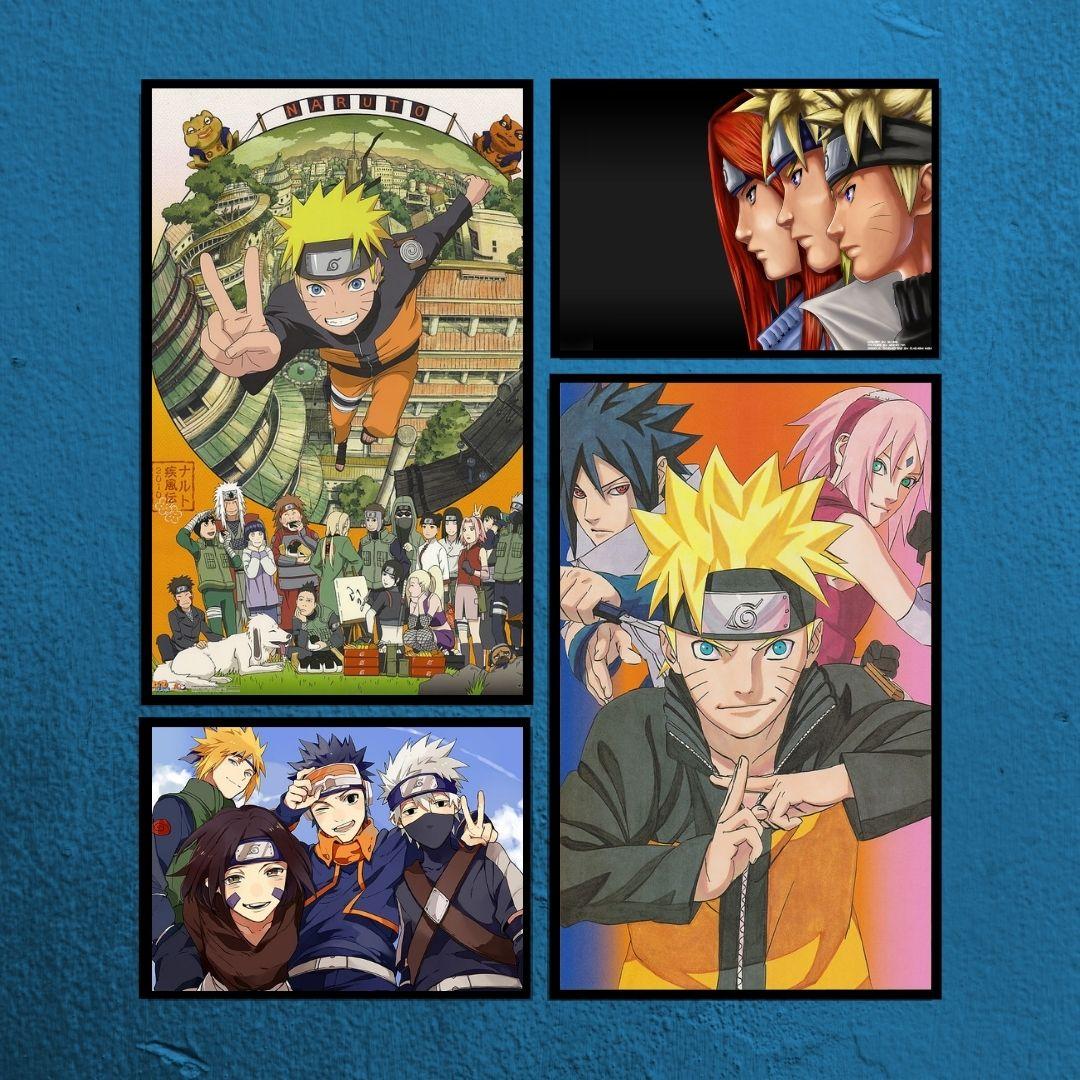 Quadros Decorativos - 4 Telas - Naruto