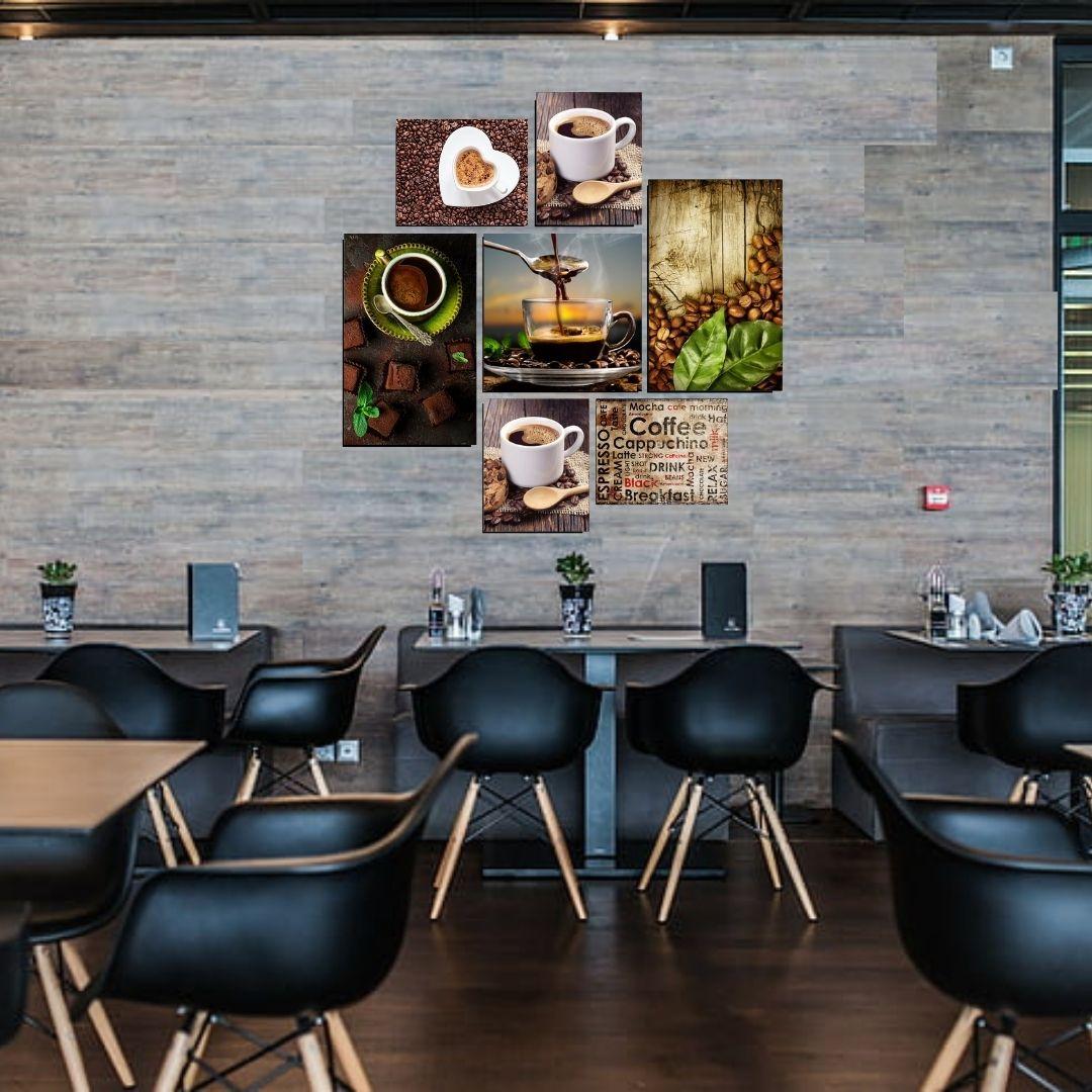Quadros Decorativos - 7 Telas - Cozinha/Café
