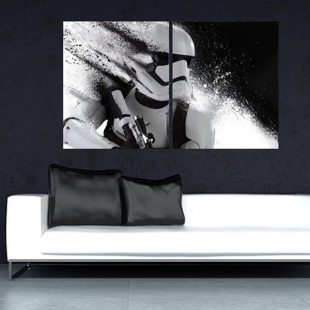 Quadro Decorativo 2 Telas - Star Wars - 100x60cm