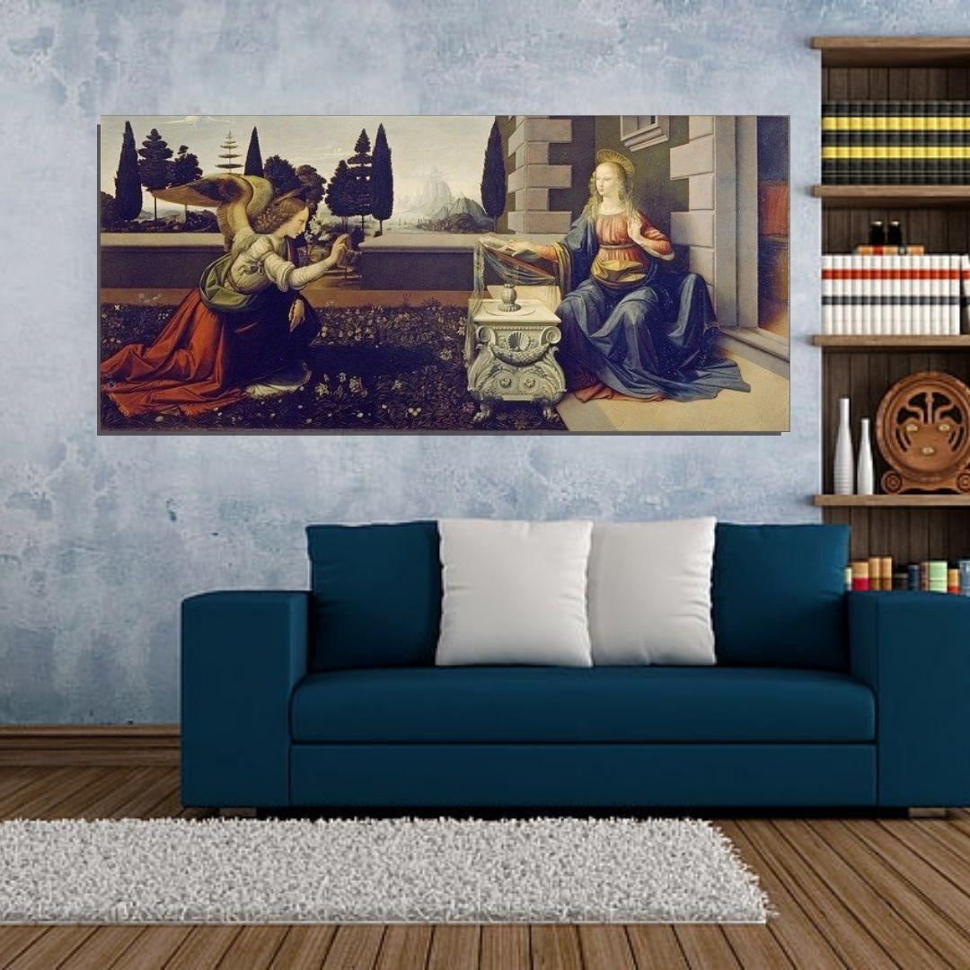 Quadro Decorativo - A Anunciação - Leonardo Da Vinci - 130x60cm