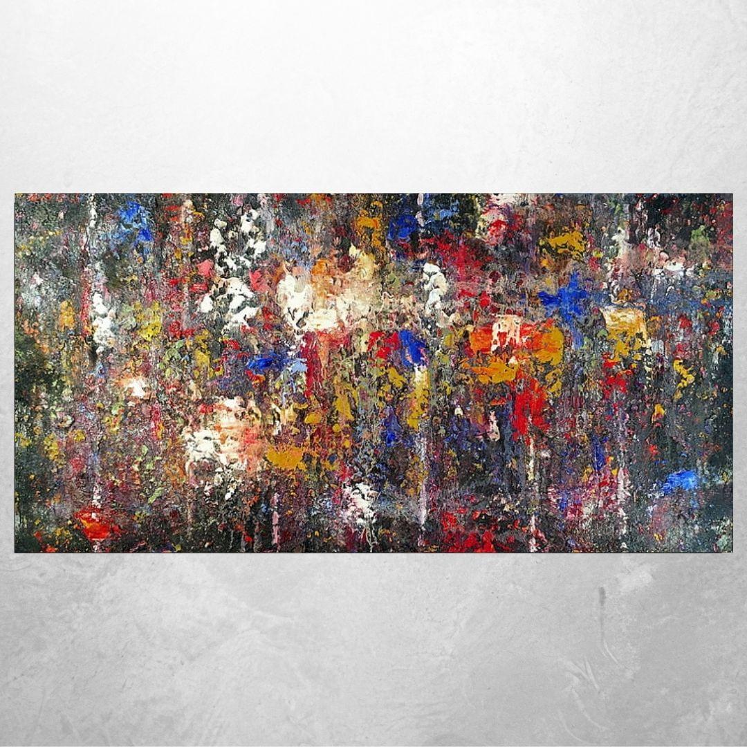 Quadro Decorativo - Abstrato colorido - 130x60cm
