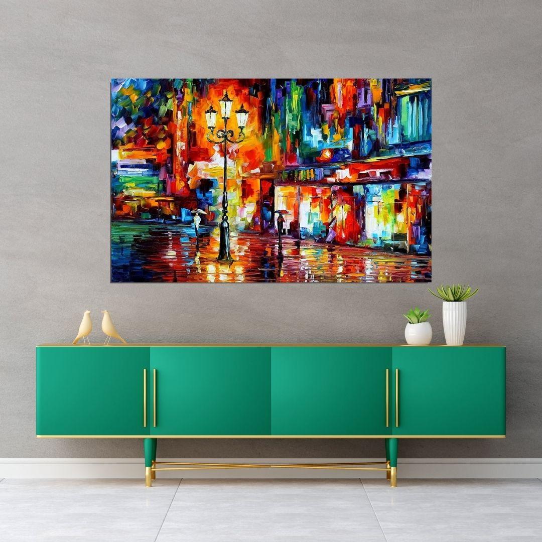 Quadro Decorativo - Abstrato Espatulado - Artista Leonid Afremov - 110x70cm