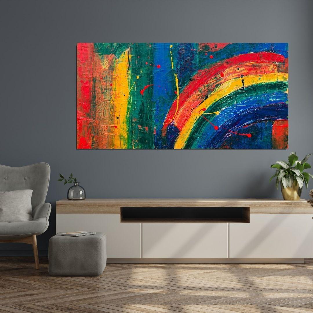 Quadro Decorativo - Abstrato moderno - 120x60cm