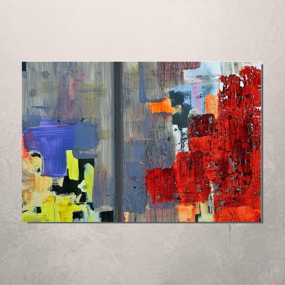 Quadro Decorativo - Abstrato Multicolorido - 100x70cm