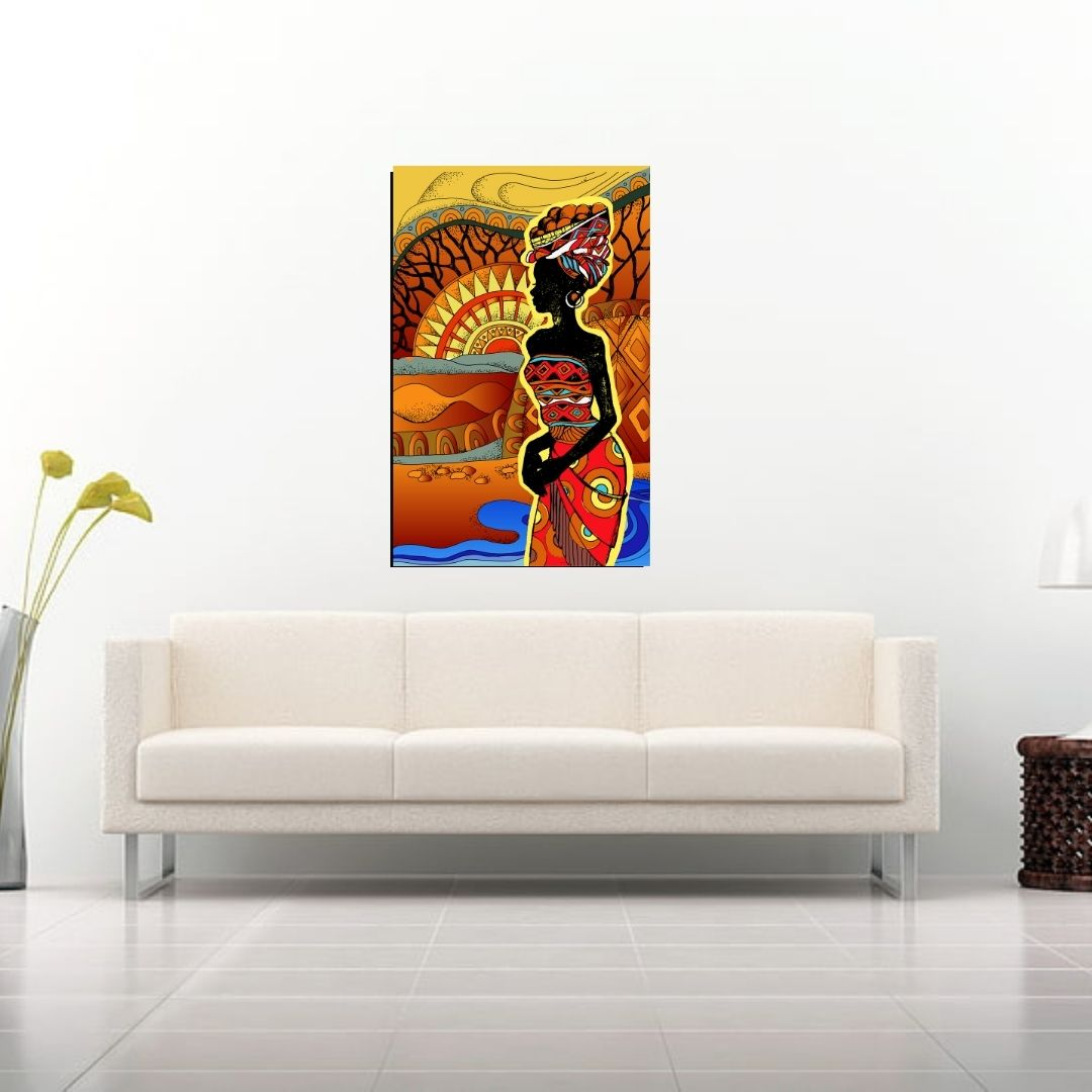 Quadro Decorativo - Africana - 90x60cm