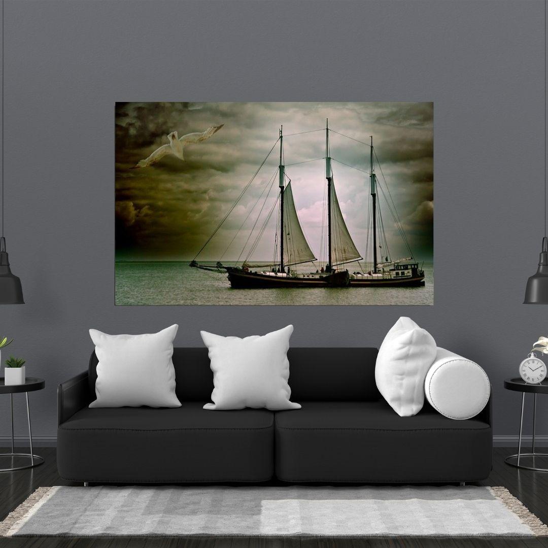 Quadro Decorativo - Barco a Vela - 110x70cm