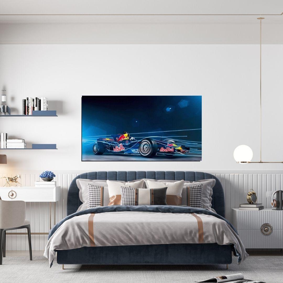 Quadro Decorativo - Carro de Corrida - Velocidade - 110x60cm