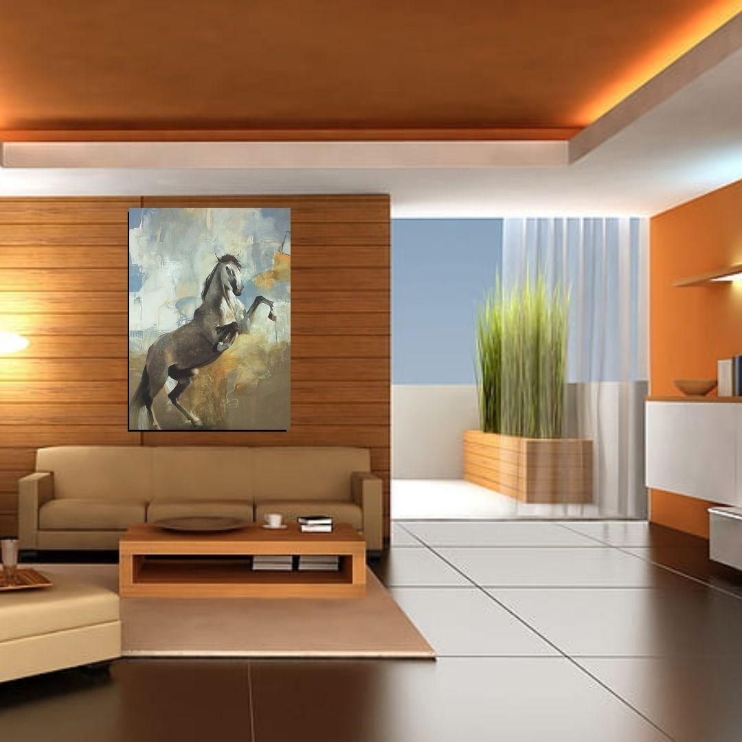 Quadro Decorativo - Cavalo em Pé - 110x80cm