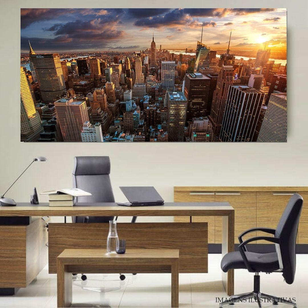 Quadro Decorativo - Cidade - 110x50cm