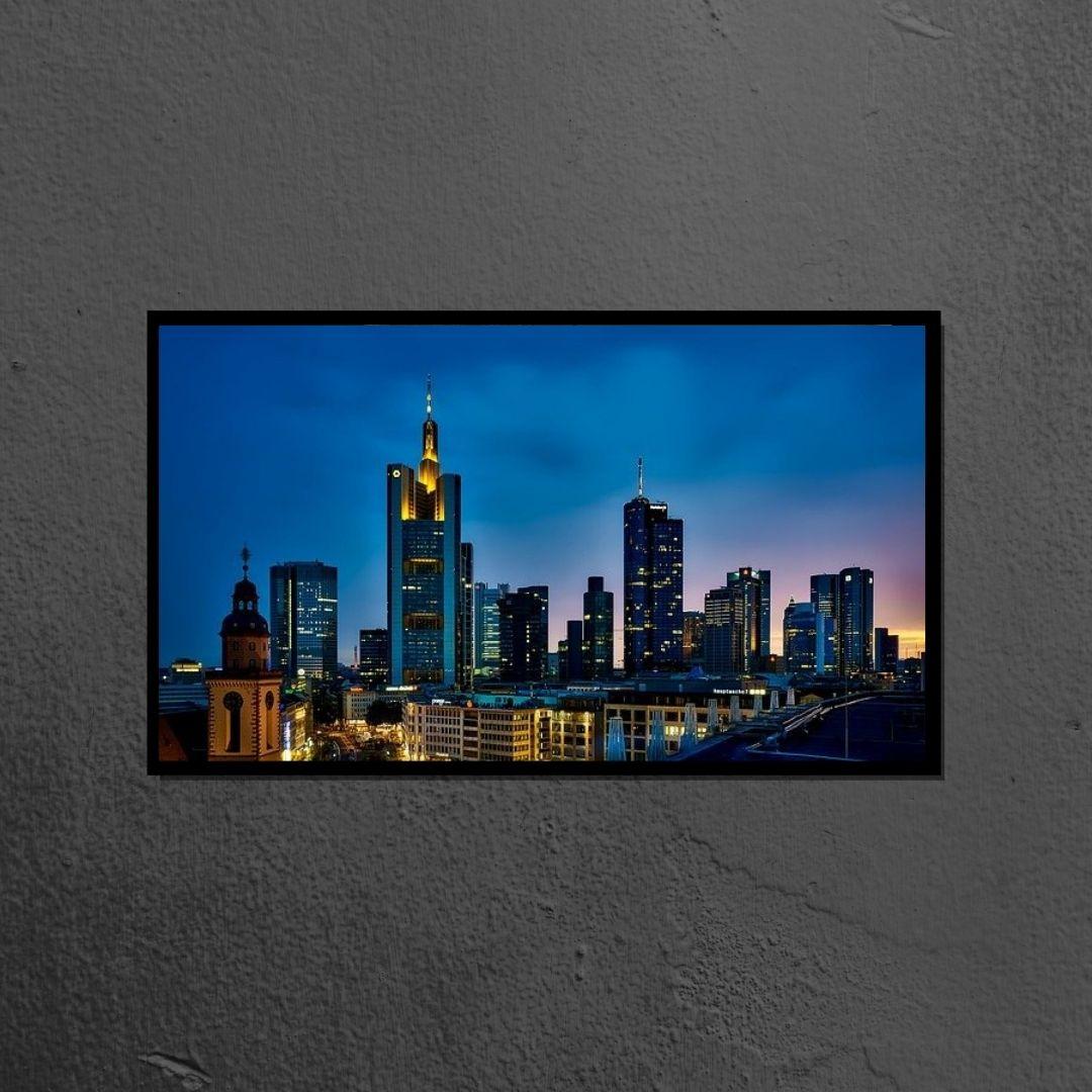 Quadro Decorativo - Cidade de Frankfurt  - Alemanha - 110x70cm