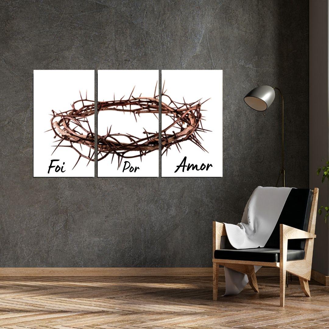 Quadro Decorativo- Coroa de Cristo - 120x70cm