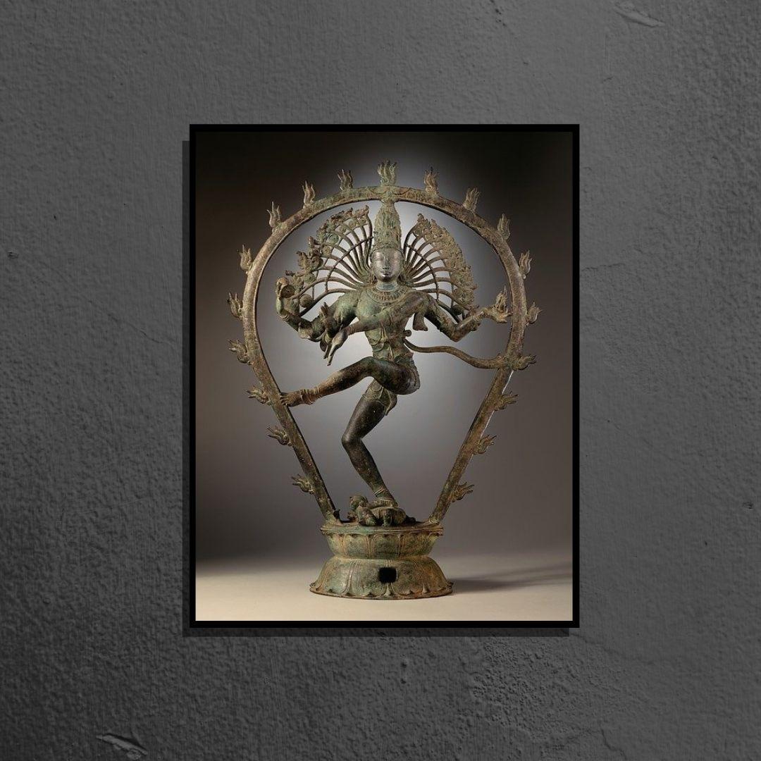 Quadro Decorativo - Deusa Shiva - Linha Premium - Com Moldura - 90x50 cm