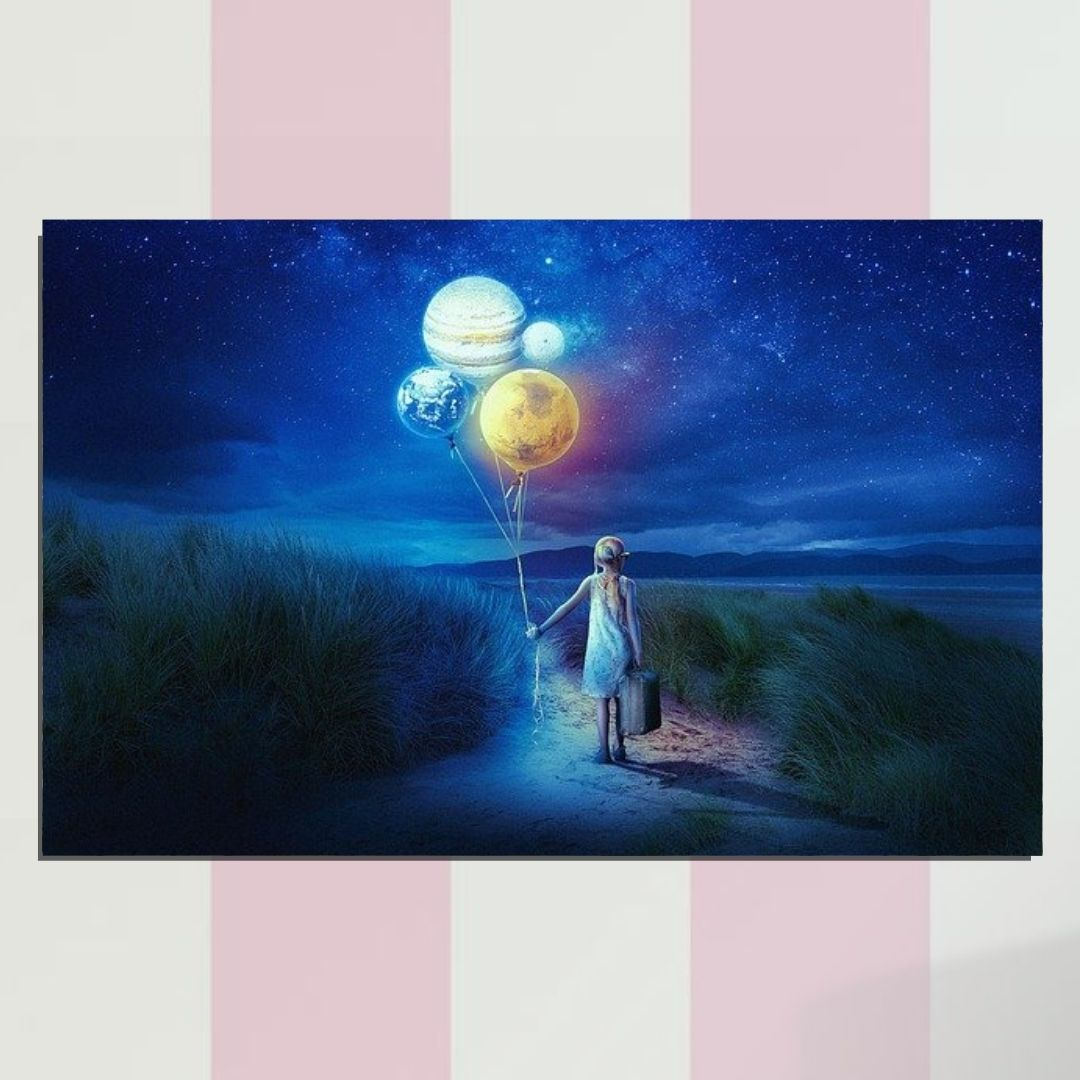 Quadro Decorativo - Fantasia - Planetas - 110x70cm