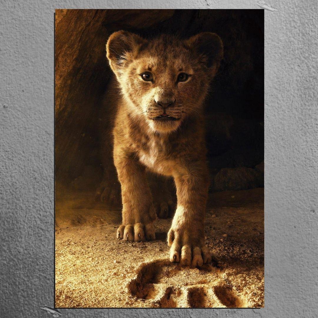 Quadro Para Sala -Leão O Rei da Selva - 100x60cm.