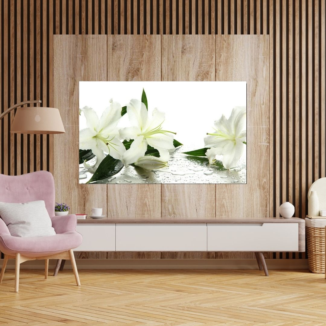 Quadro Decorativo - Lírios - 90x55cm