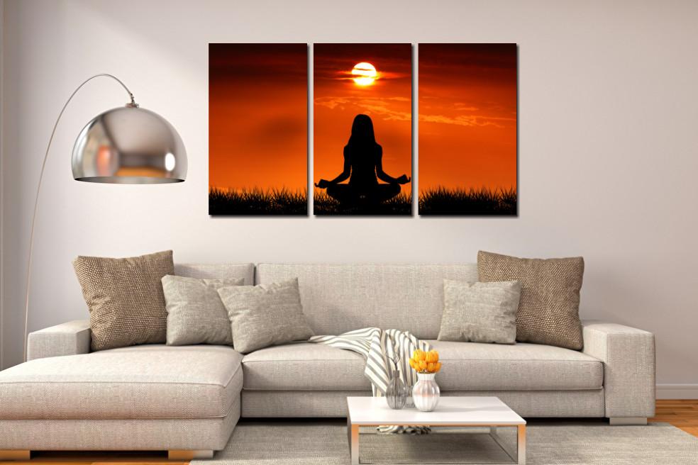 Quadro Decorativo - Meditação Espiritualidade - 120x70