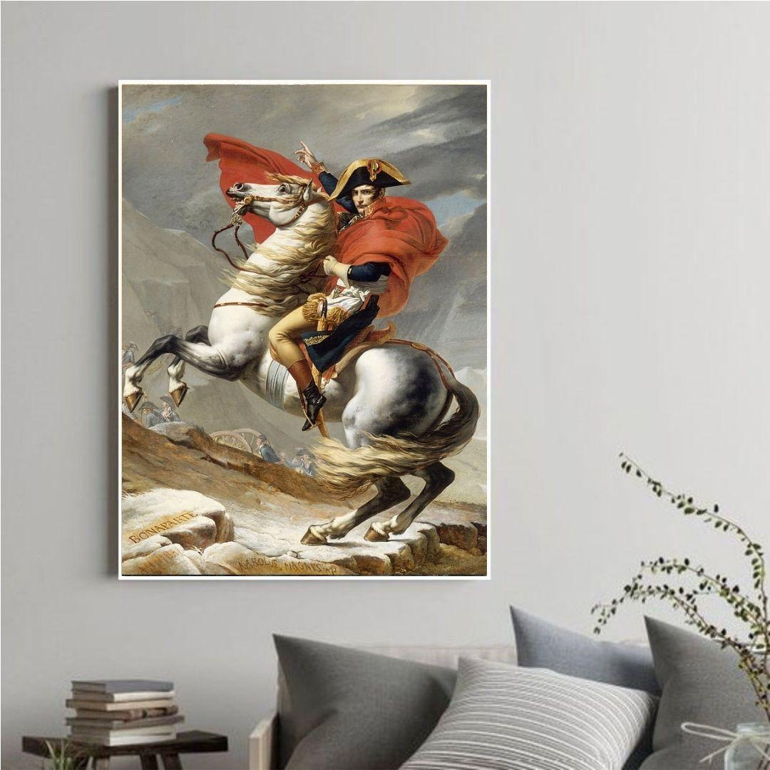 Quadro Decorativo Napoleão Bonaparte Com Moldura 90x60 cm