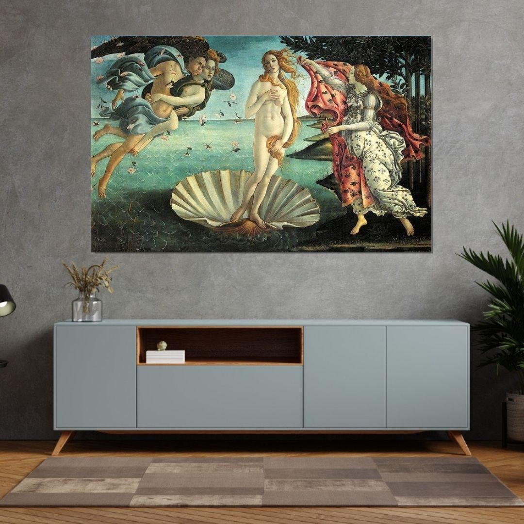 Quadro Decorativo - O Nascimento de Vênus - Sandro Botticelli - 110x70cm