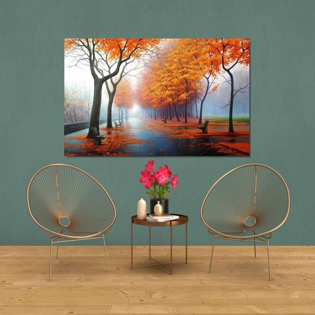 Quadro Decorativo Paisagem de Outono 120x70cm