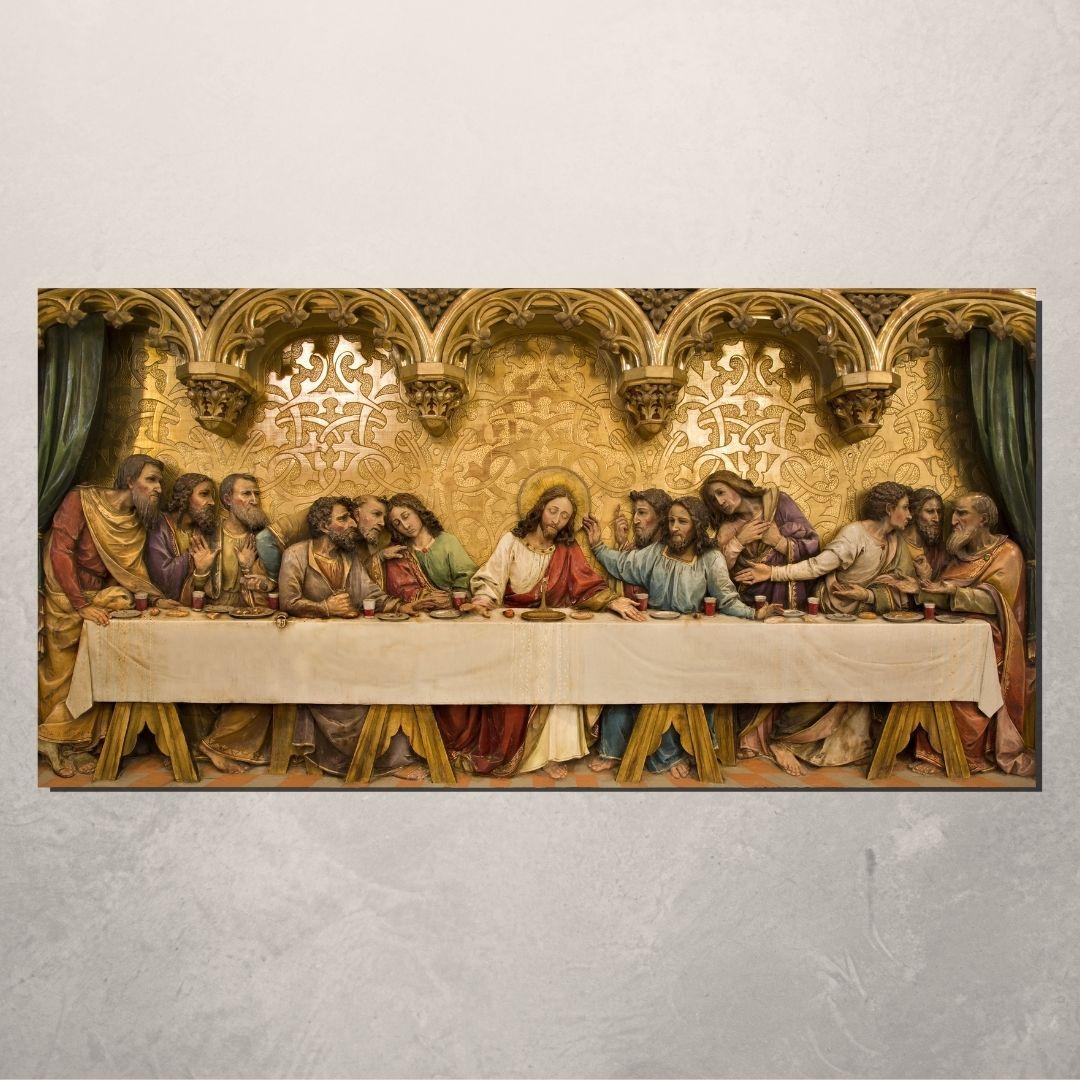 Quadro Decorativo Para Sala  -A Ultima Ceia de Jesus Cristo - 110x55