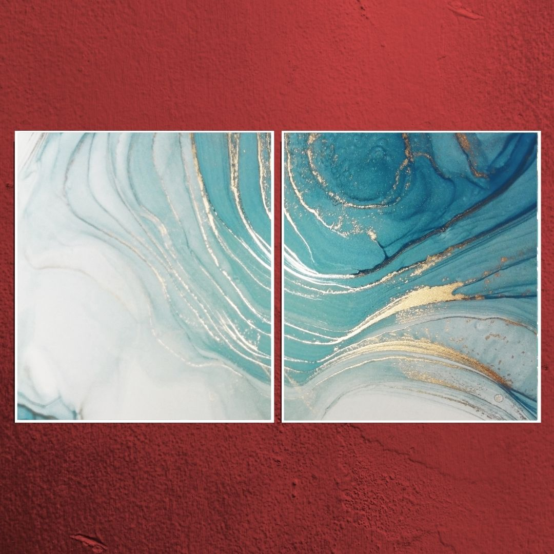 Quadro Decorativo Para Sala  - Abstrato Marmorizado - 140x80cm