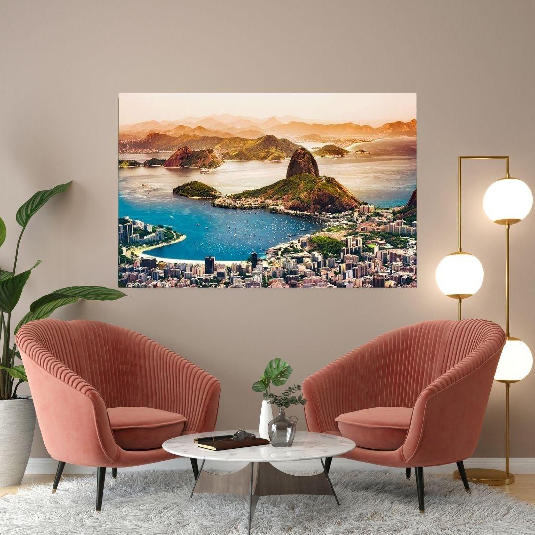 Quadro Decorativo Para Sala - Rio de Janeiro - 110x70cm
