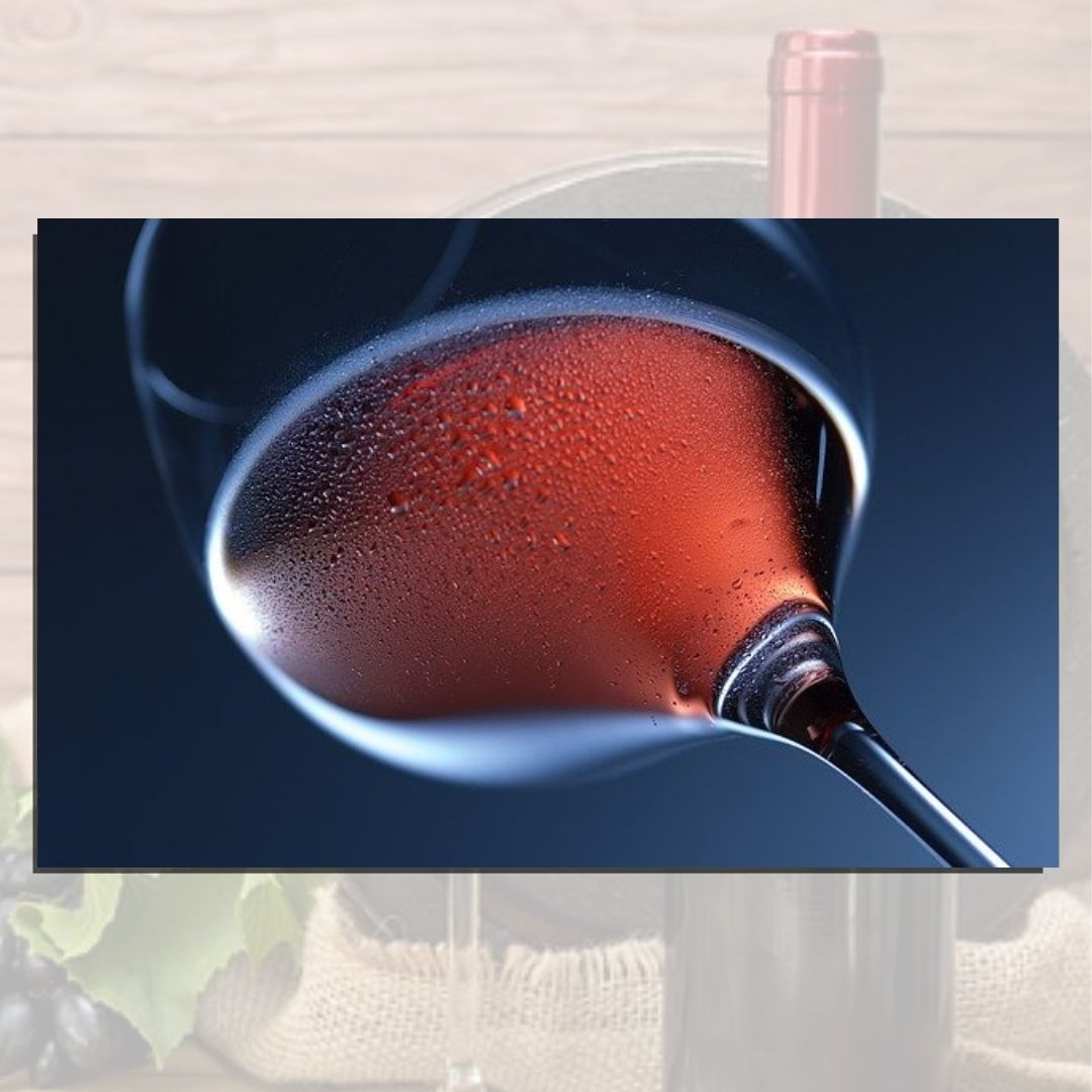 Quadro Decorativo - Taça de Vinho - 110x70cm